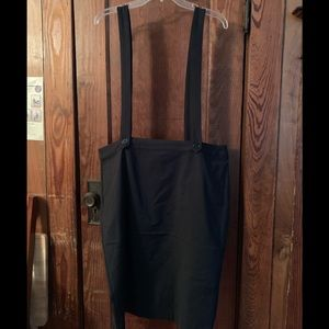 NWT Skirt with attached suspenders